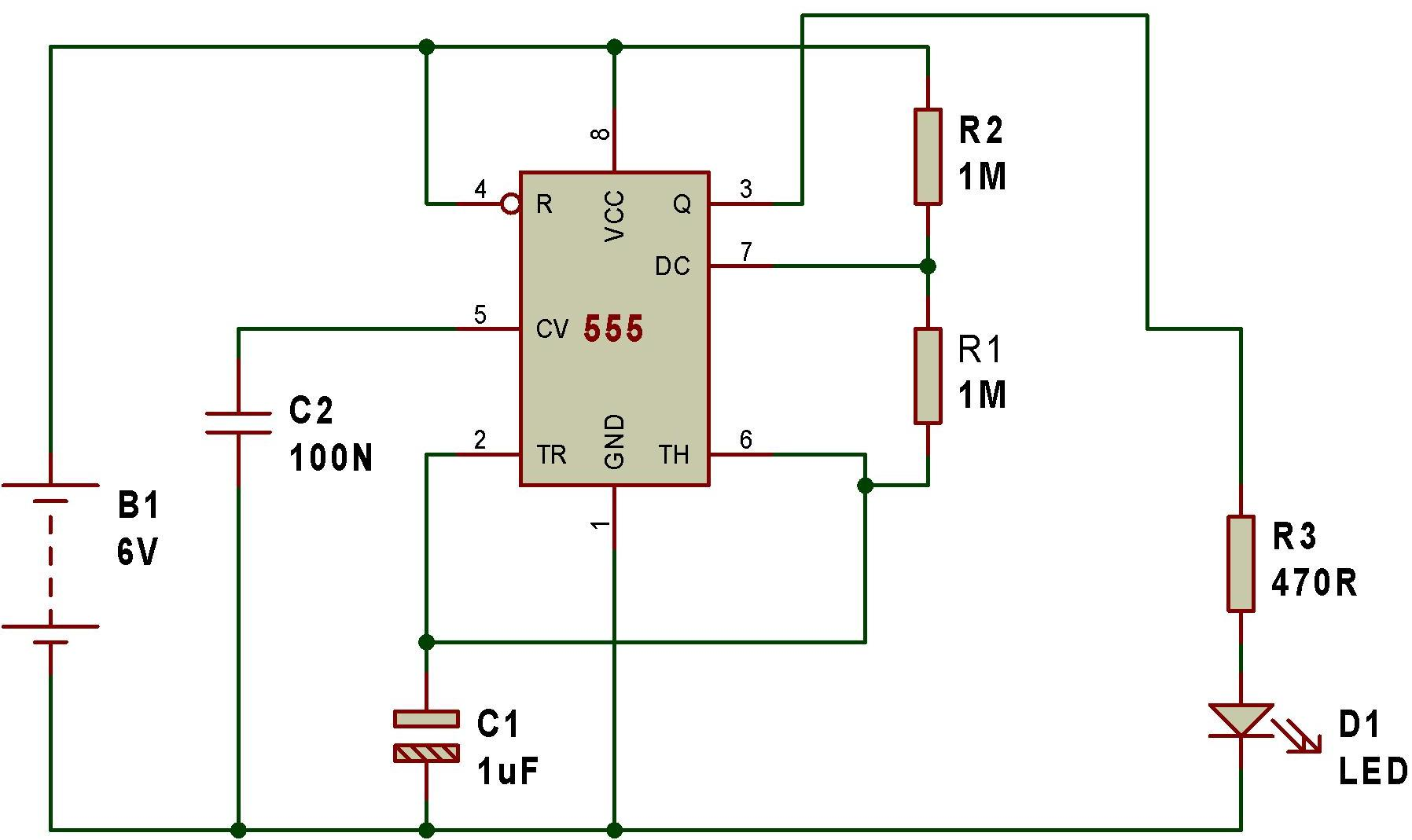 Mode Of Ne555 Astable Buildcircuit Electronics 555 Monostable Multivibrator Timer Circuits Fig