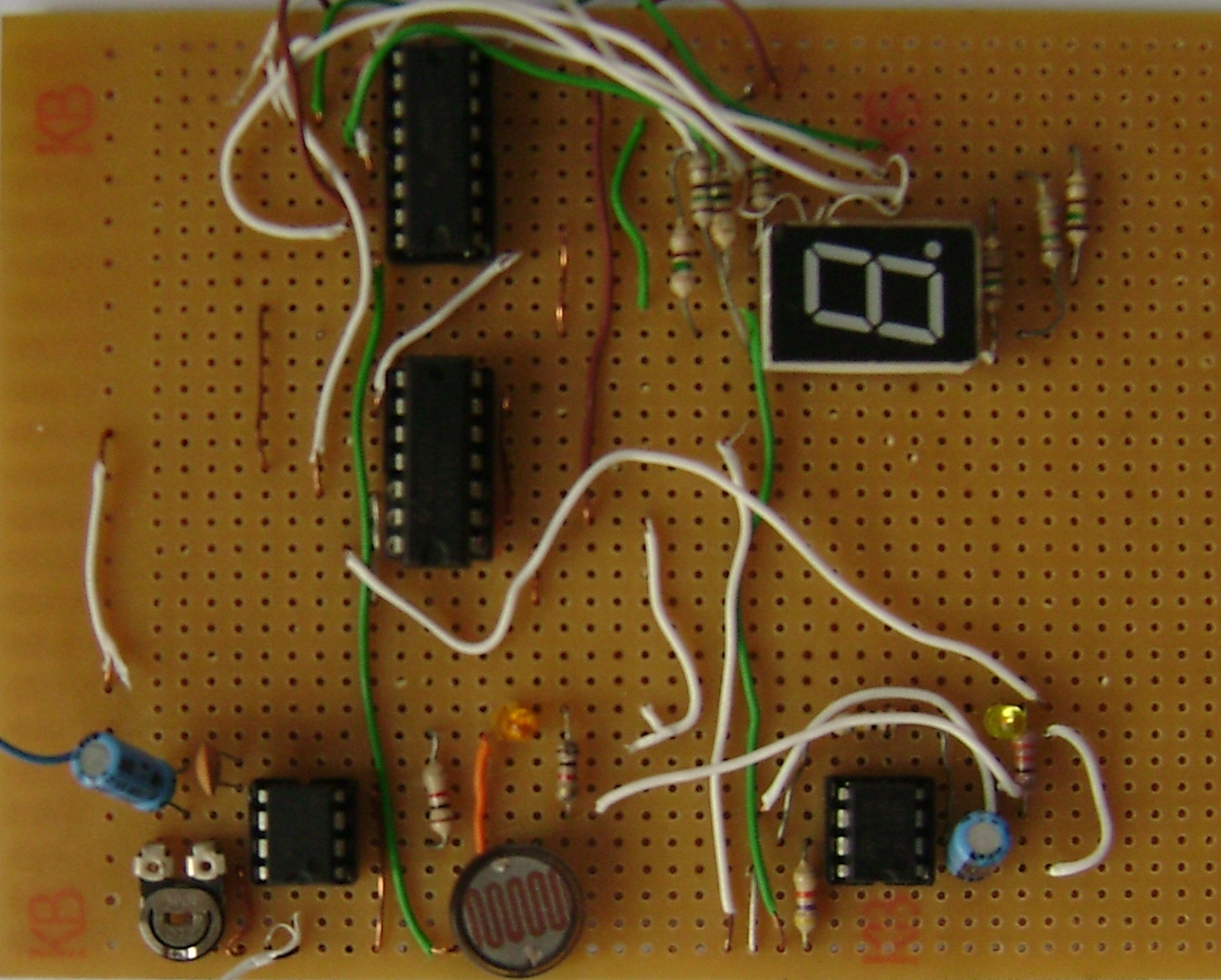 Digital Object Counter Using Ldr And Ic Buildcircuit Electronics Engineering Mini Projects Final Click