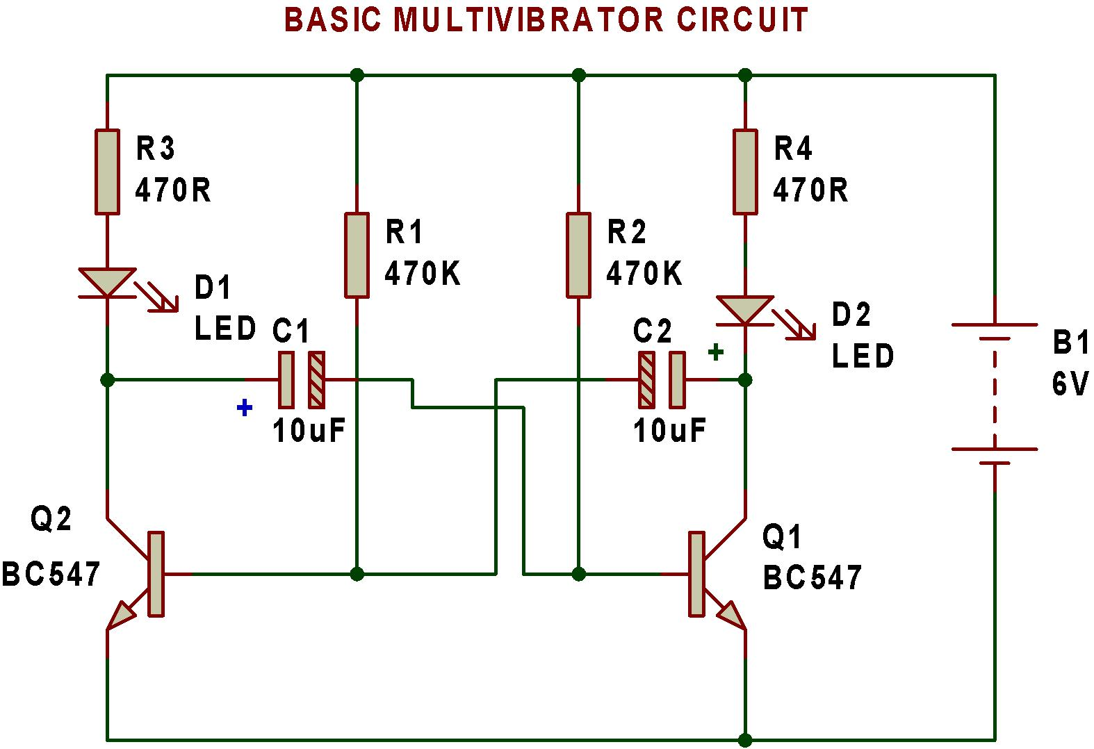 Astable Multivibrator Circuit Diagram Using 555 Wiring Diagrams Ic Monostable Buildcircuit Electronics Tip32a