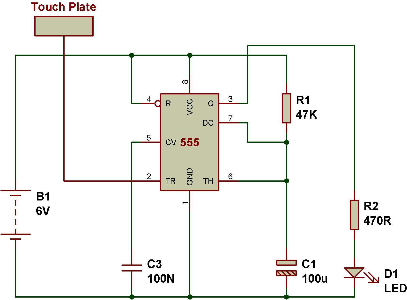 Mode Of Ne555 Monostable Buildcircuit Electronics The Previous Circuit Makes It Work As An Infrared Transmitter We Can Dark Sensor Using 555based On This Shows How Convert A
