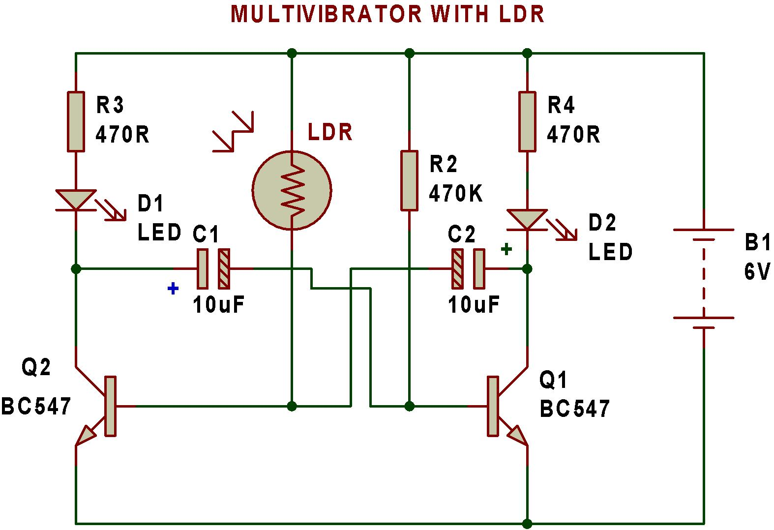 Multivibrator Buildcircuit Electronics Picture Of Building The Oscillator Circuits
