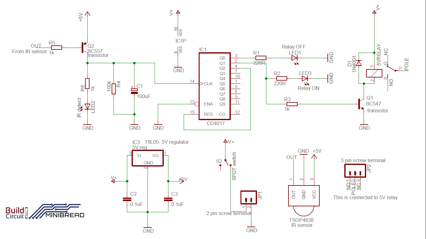 Remote Operated Switch Diy Kit Buildcircuit Electronics How To Build Mains Led Circuit Schematic