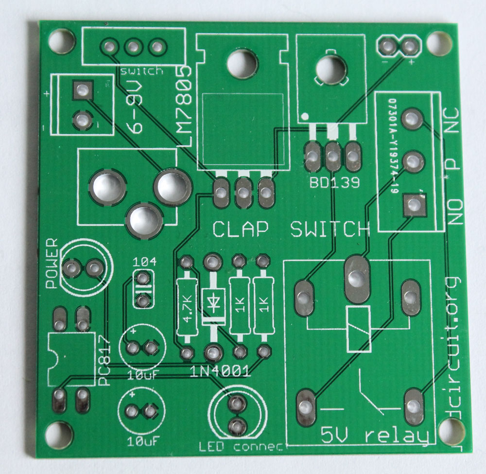 Assembly Tutorial Relay Module Diy Kit For Popular Clap Switch Dc Pcb