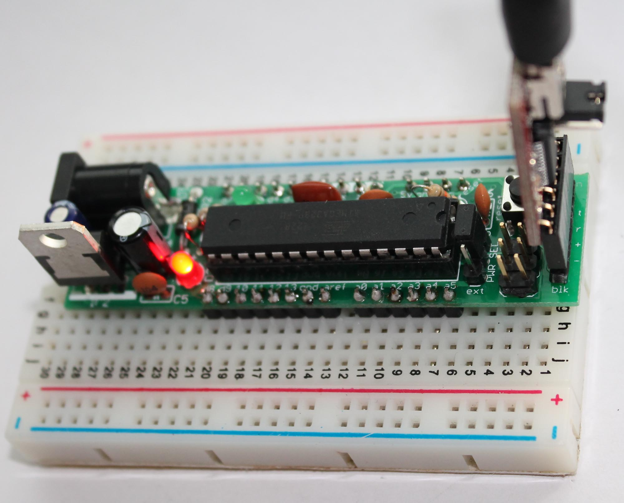 Dc Boarduino A Diy Arduino Buildcircuit Electronics How To Use The Clap Switch Build Circuit 18 Using Ftdi Breakout Board In Erect Header