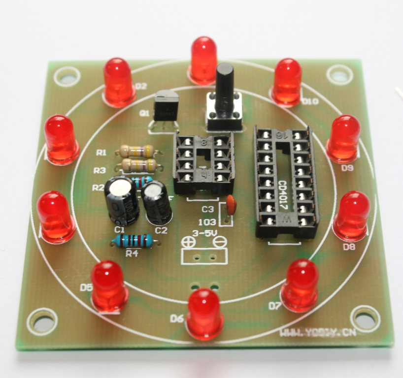 cd4017 and ne555 timer experiments buildcircuit electronicscd4017 and ne555 timer experiments