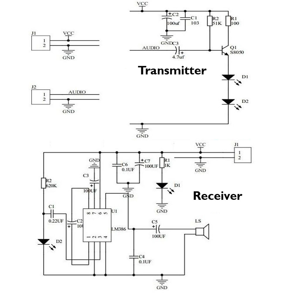 How To Use Infrared Based Music Transmitter And Receiver The Previous Circuit Makes It Work As An We Can You Buy Kit At Buildcircuit Store