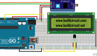 Temperature sensor using Arduino, LM35 and I2C LCD