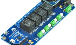 TSIR04 – 4 Channel Outputs- 4 optically Isolated Inputs USB Relay Module