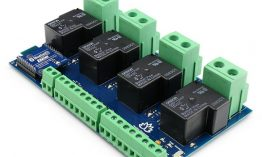 TSIR341 – 4 Channel Outputs- 4 optically Isolated Inputs 30A Bluetooth Relay